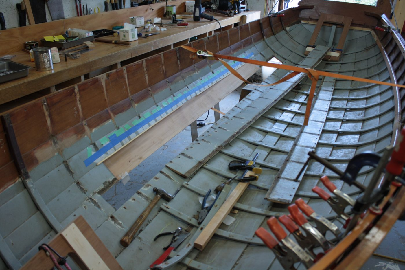 Painters lodge skiff repair
