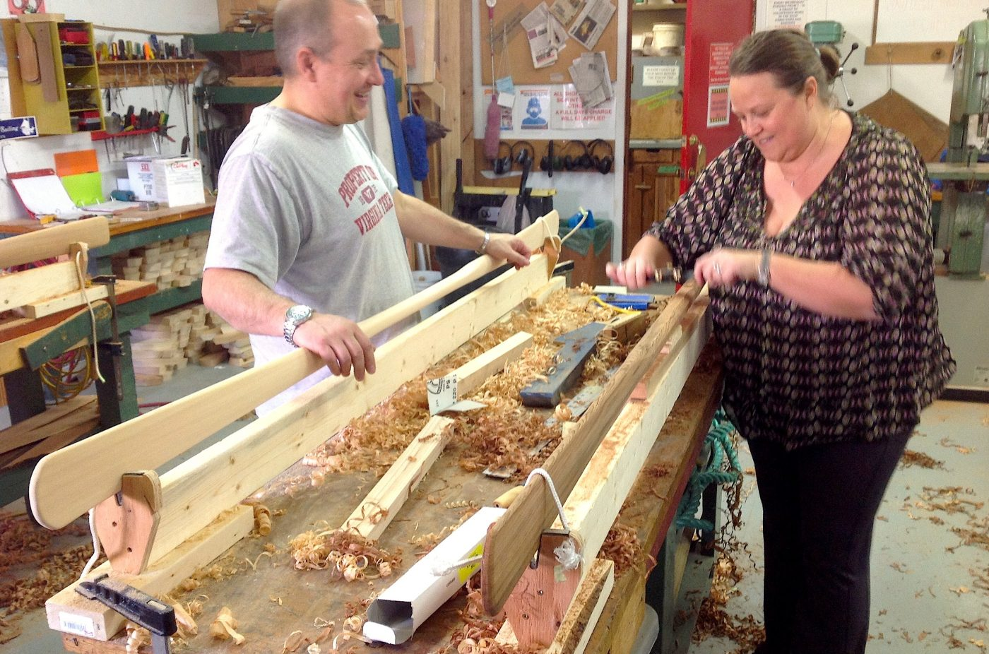 Carving Greenland paddles