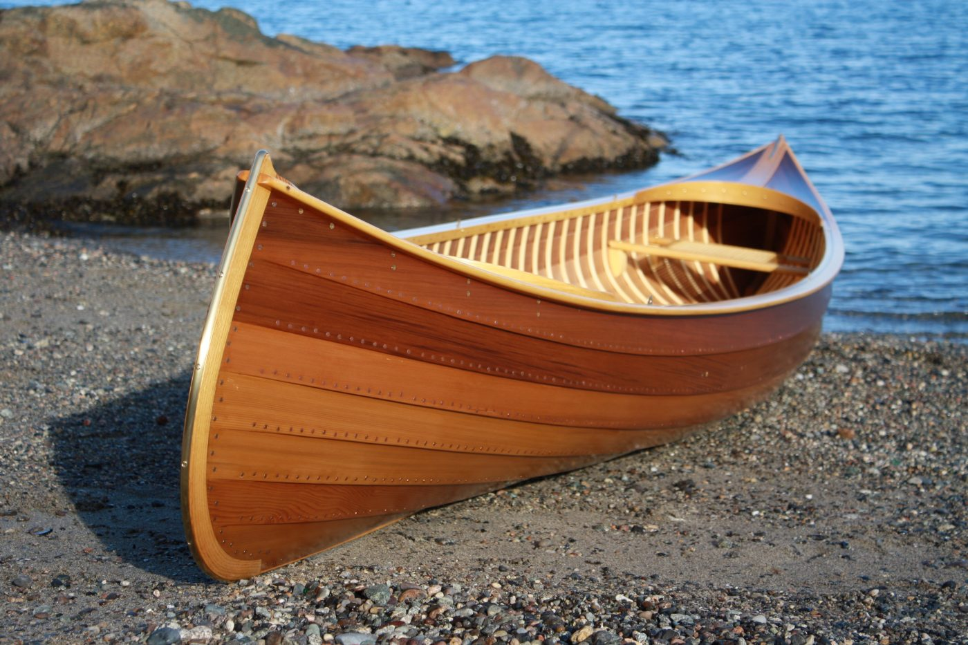 Canadian Ugo canoe on beach