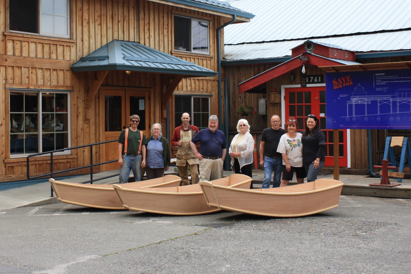 Weekend punts built at the Cowichan Bay Maritime Centre