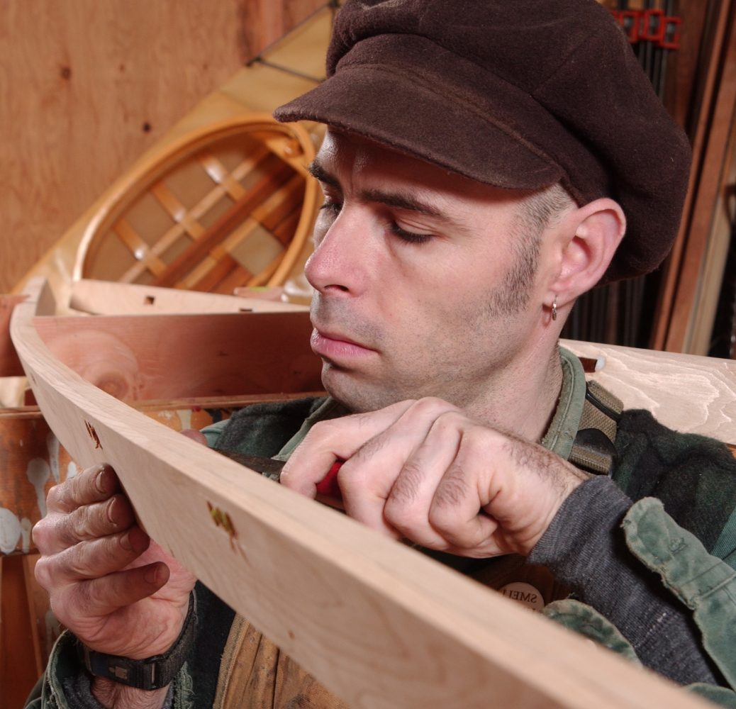 Mark Reuten building a kayak