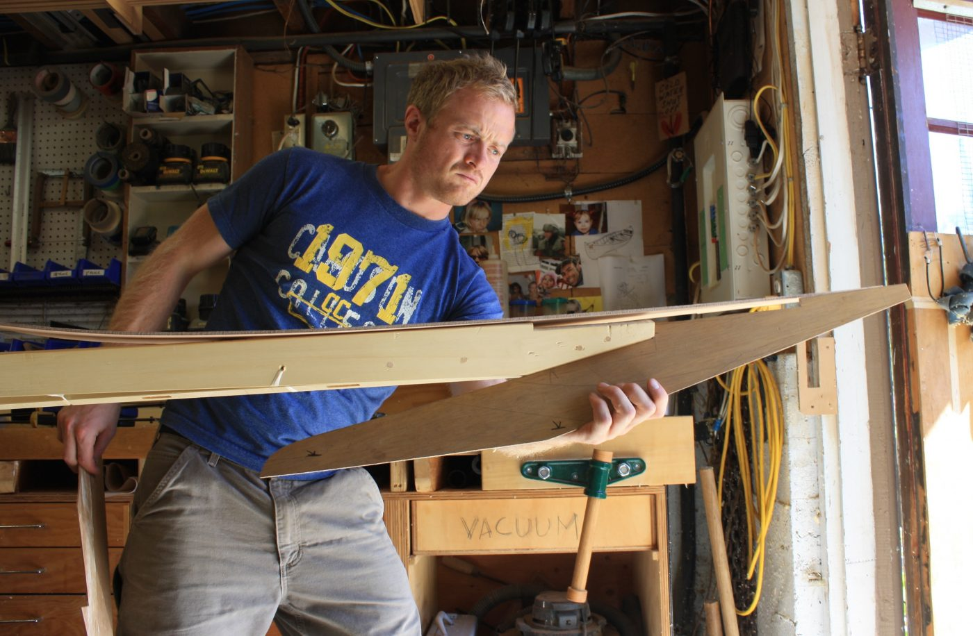 Oliver Scott building a greenland kayak