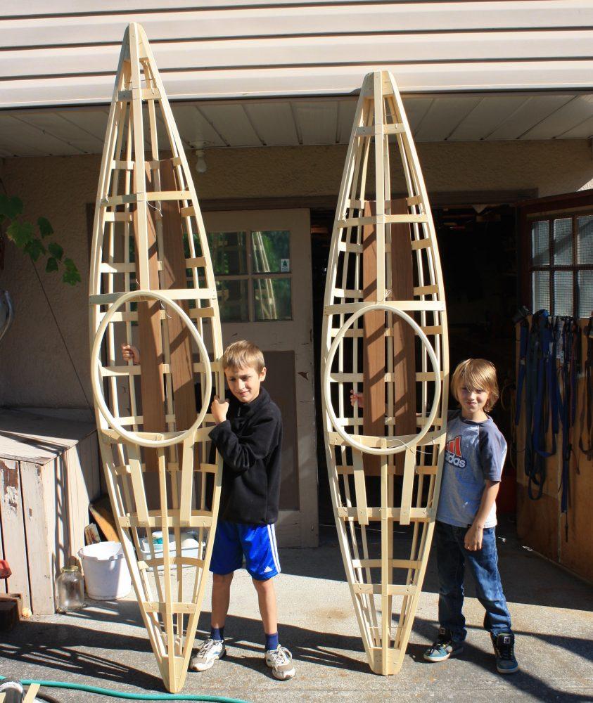 kids with qayapaq kayak frames