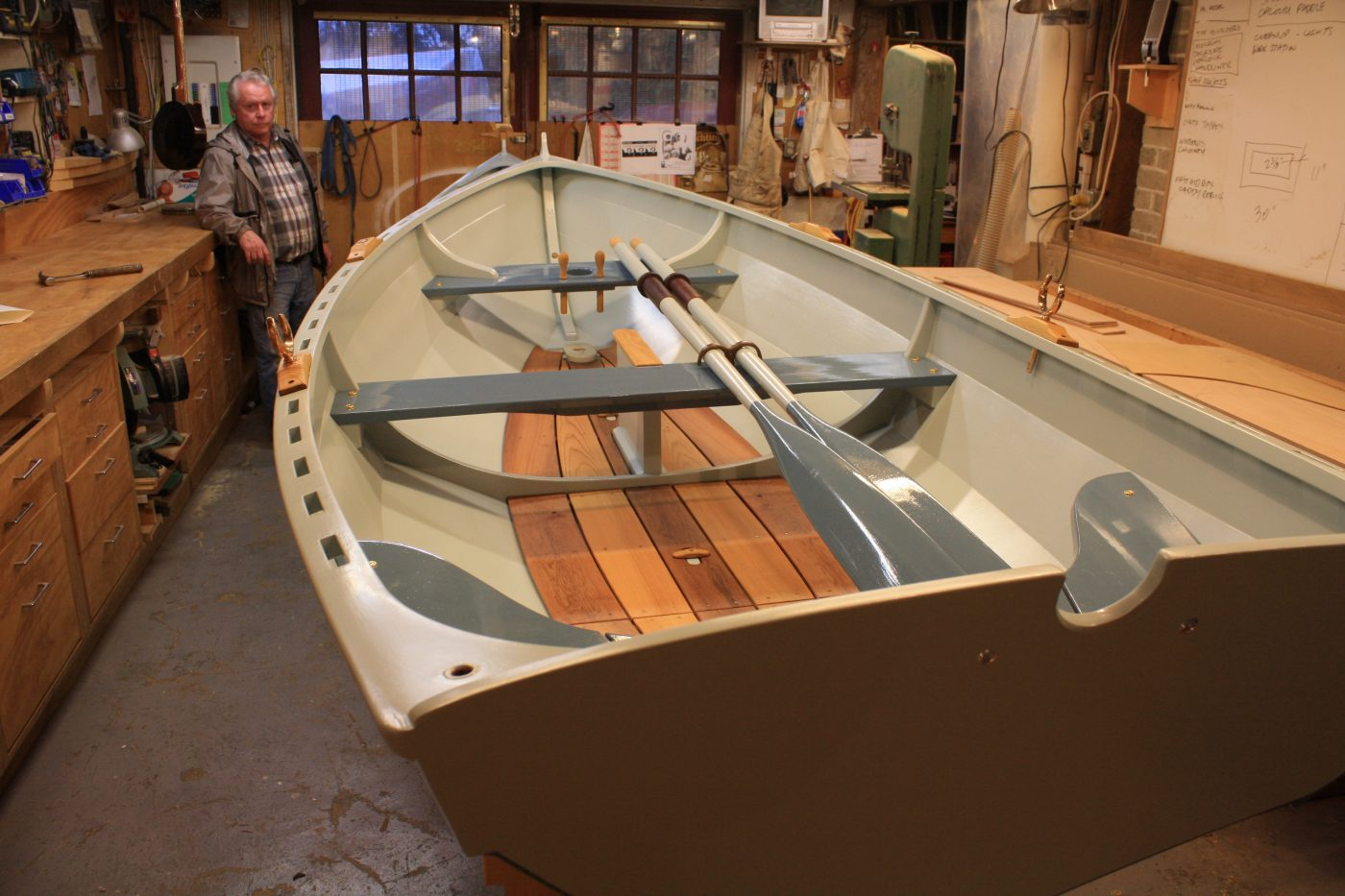 Shellback dinghy in the workshop