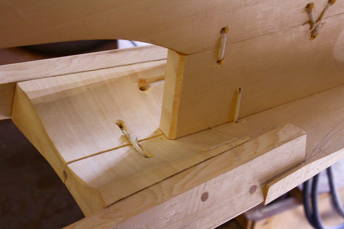 Baidarka frame detail