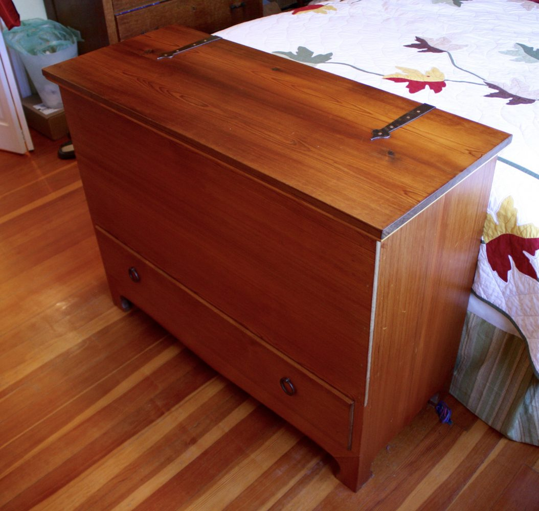 17th century blanket chest reproduction