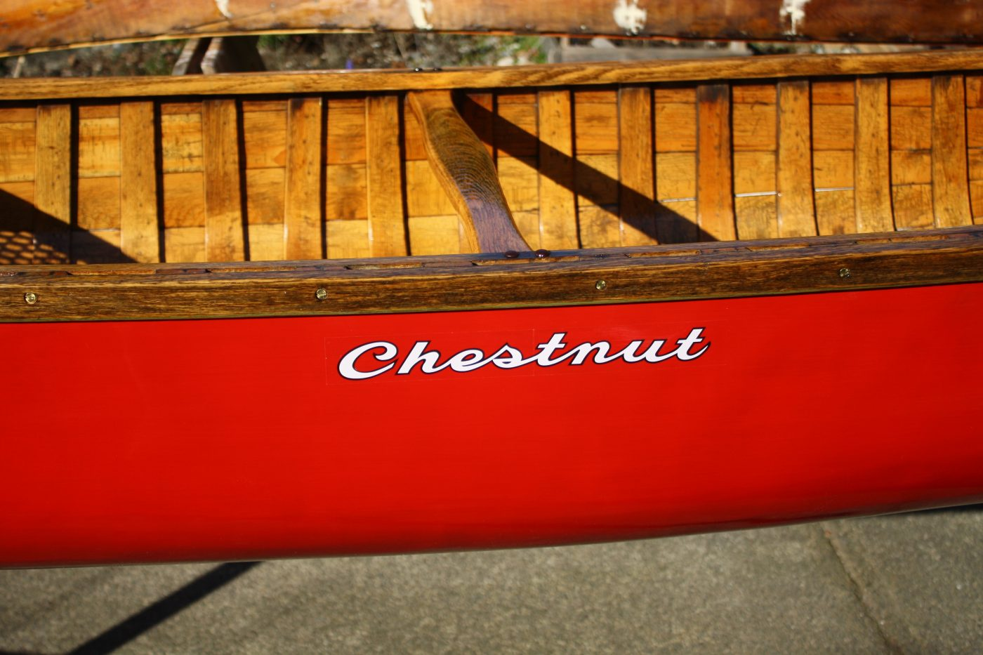 Chestnut canoe decal
