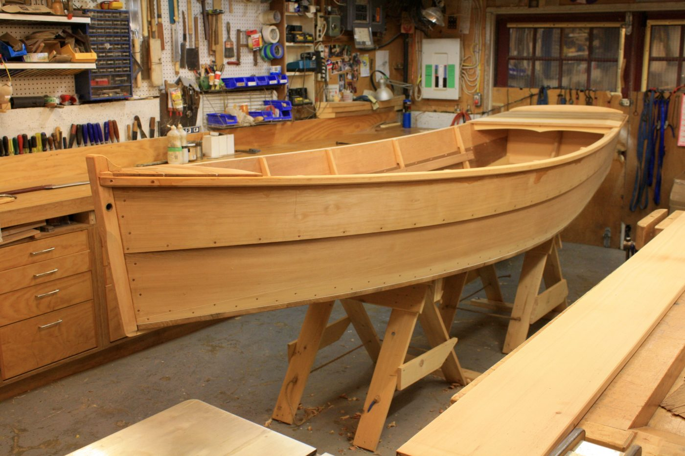 Fisgard Skiff under construction