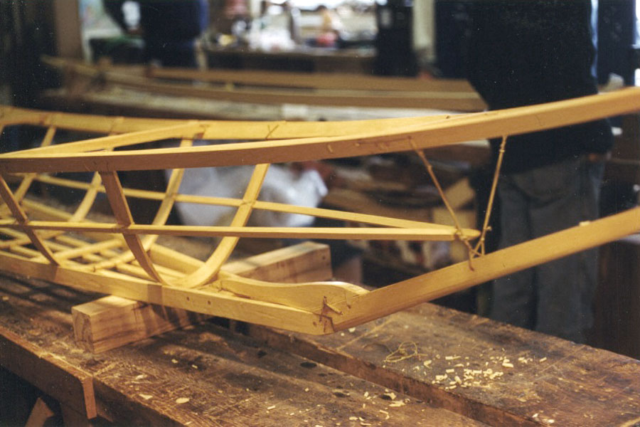 Athapaskan Upper Yukon River canoe construction detail