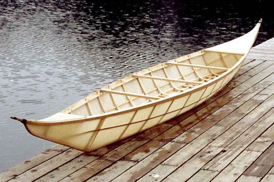 Athapaskan Upper Yukon River canoe