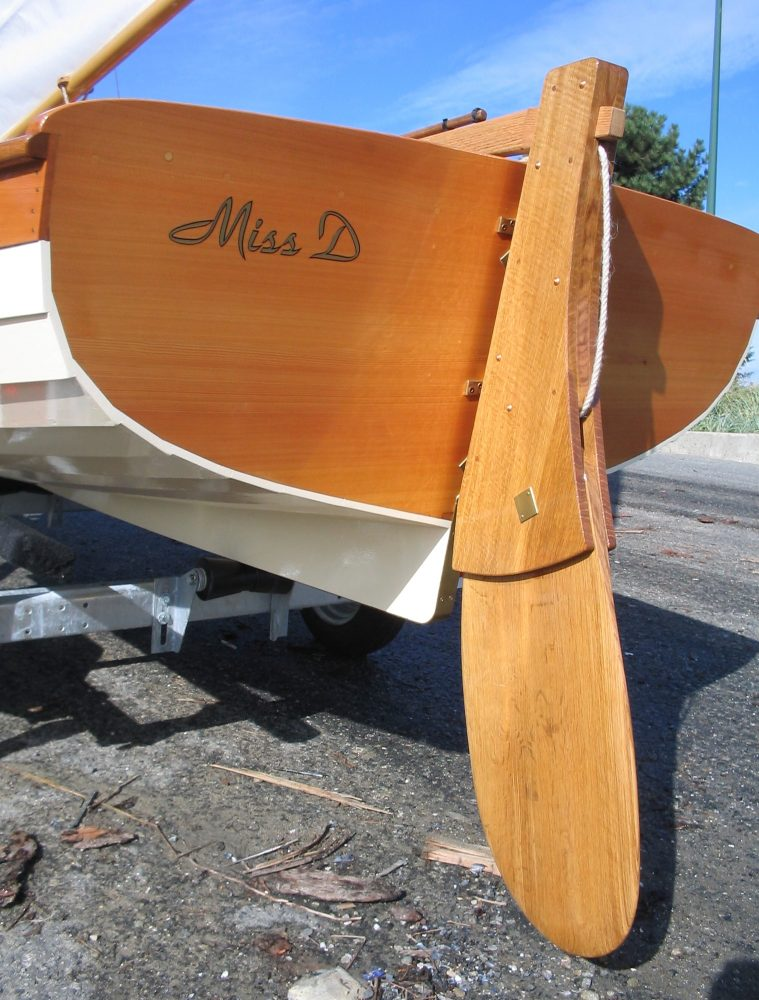 Paul Gartside designed Skylark dinghy, rudder