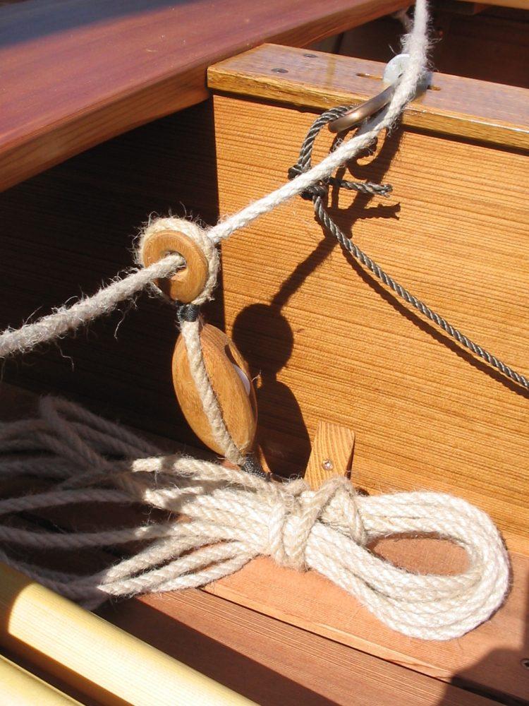 Paul Gartside designed Skylark dinghy rigging detail