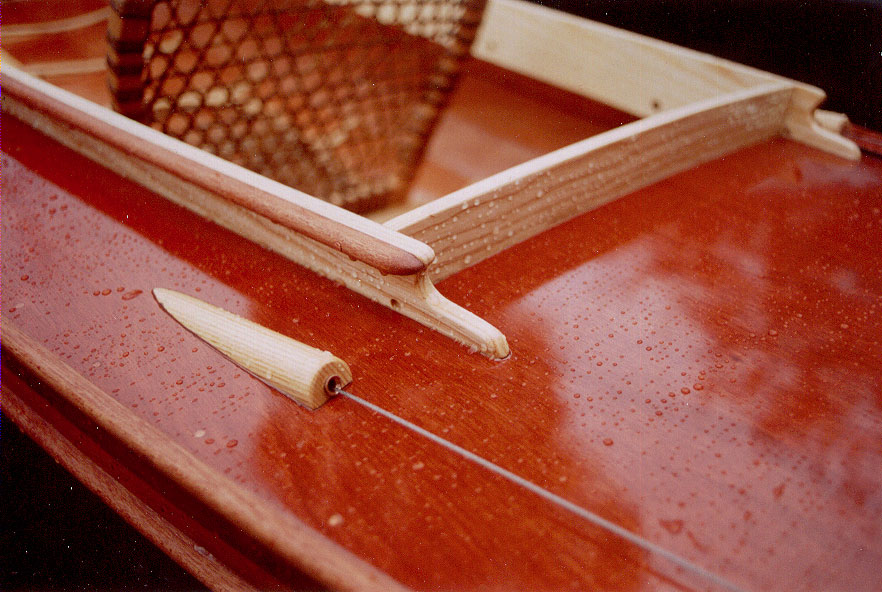 Vesper canoe coaming detail