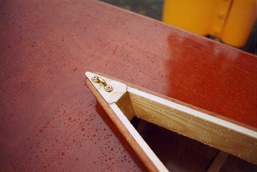 Vesper canoe coaming detail
