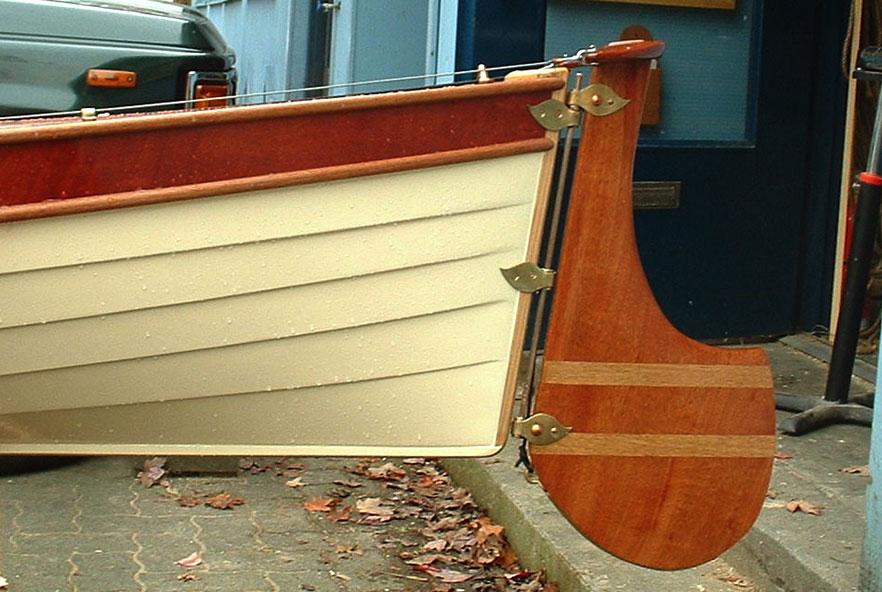 Vesper canoe, rudder