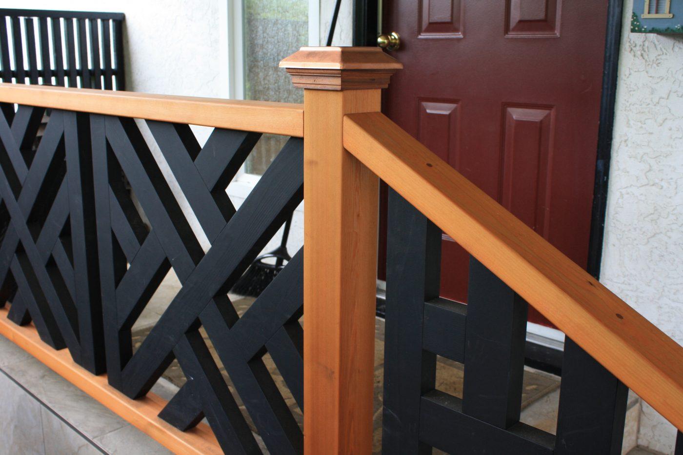 Cedar banister