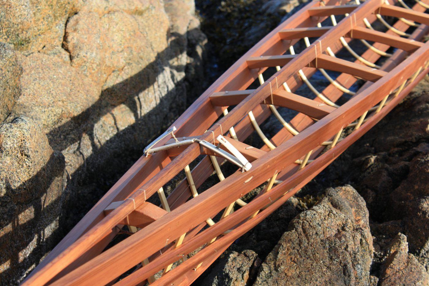 Inuvialuit harpoon holder detail