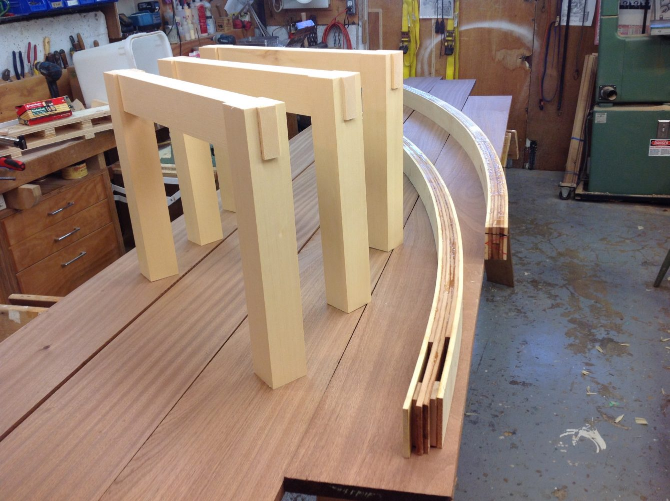 Curved garden frame lamination