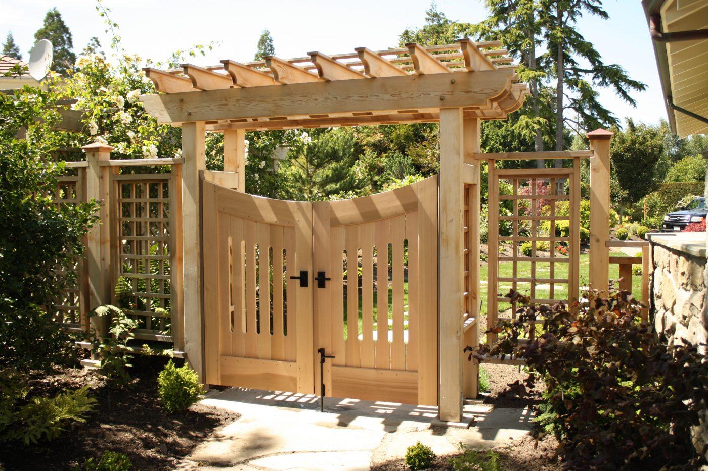 Custom garden gate