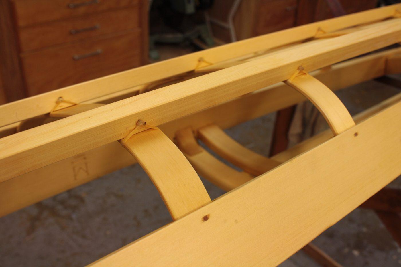 Greenland kayak frame detail
