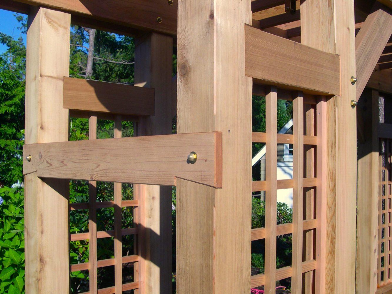 Cedar arbour