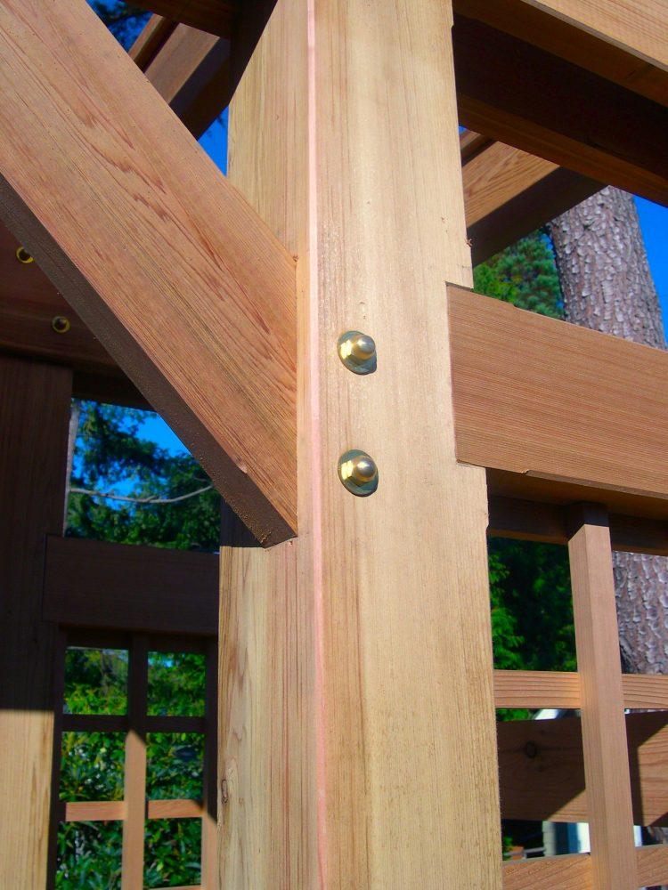 Cedar arbour detail