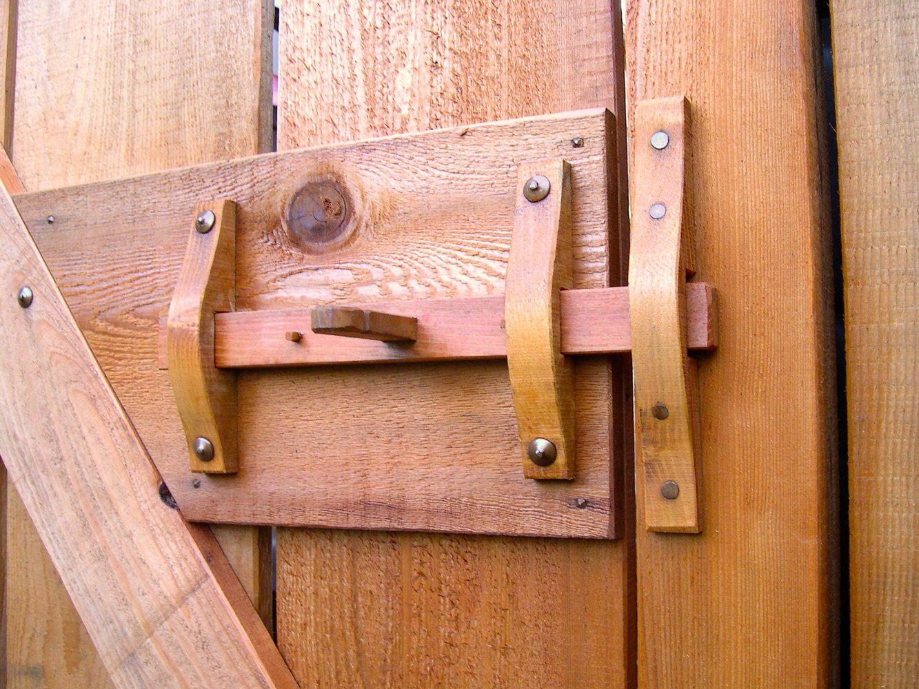 Garden gate latch detail