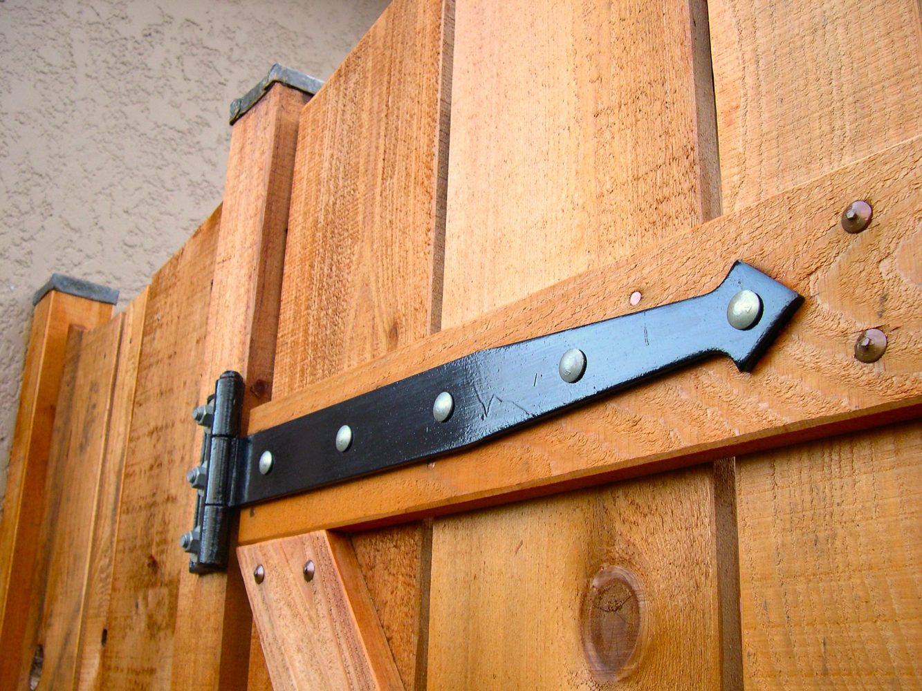 Garden gate hinge detail