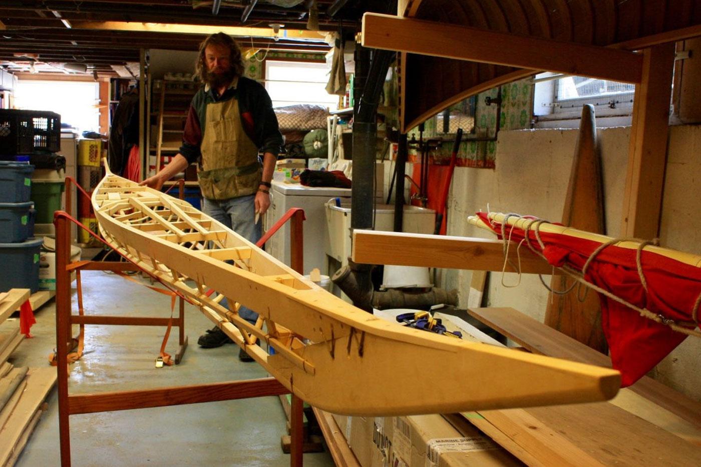 Hinderloopen Greenland kayak frame