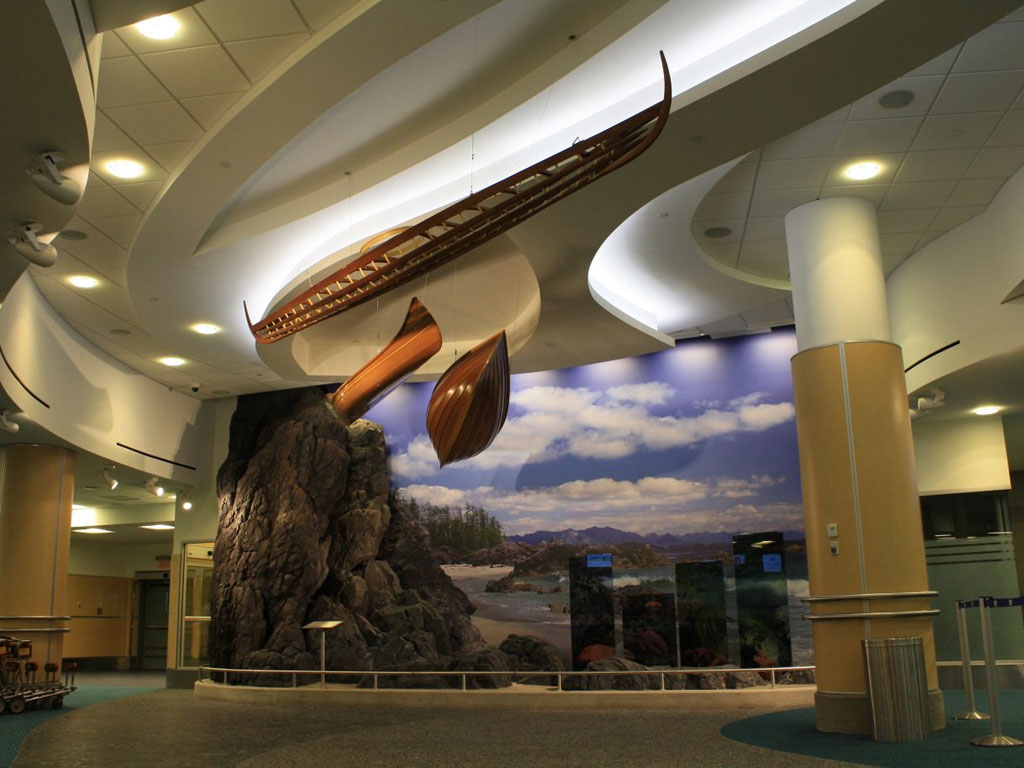 Inuvialuit kayak at Vancouver International Airport