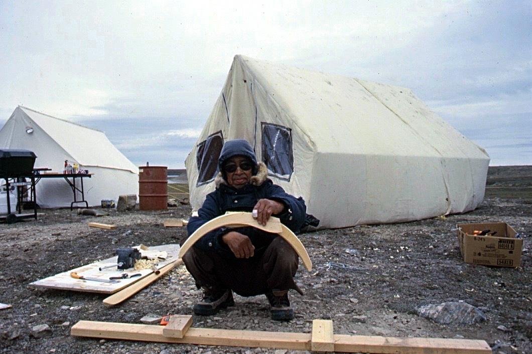 Netsilikmeot kayak building camp, Kugaaruk Nunavut