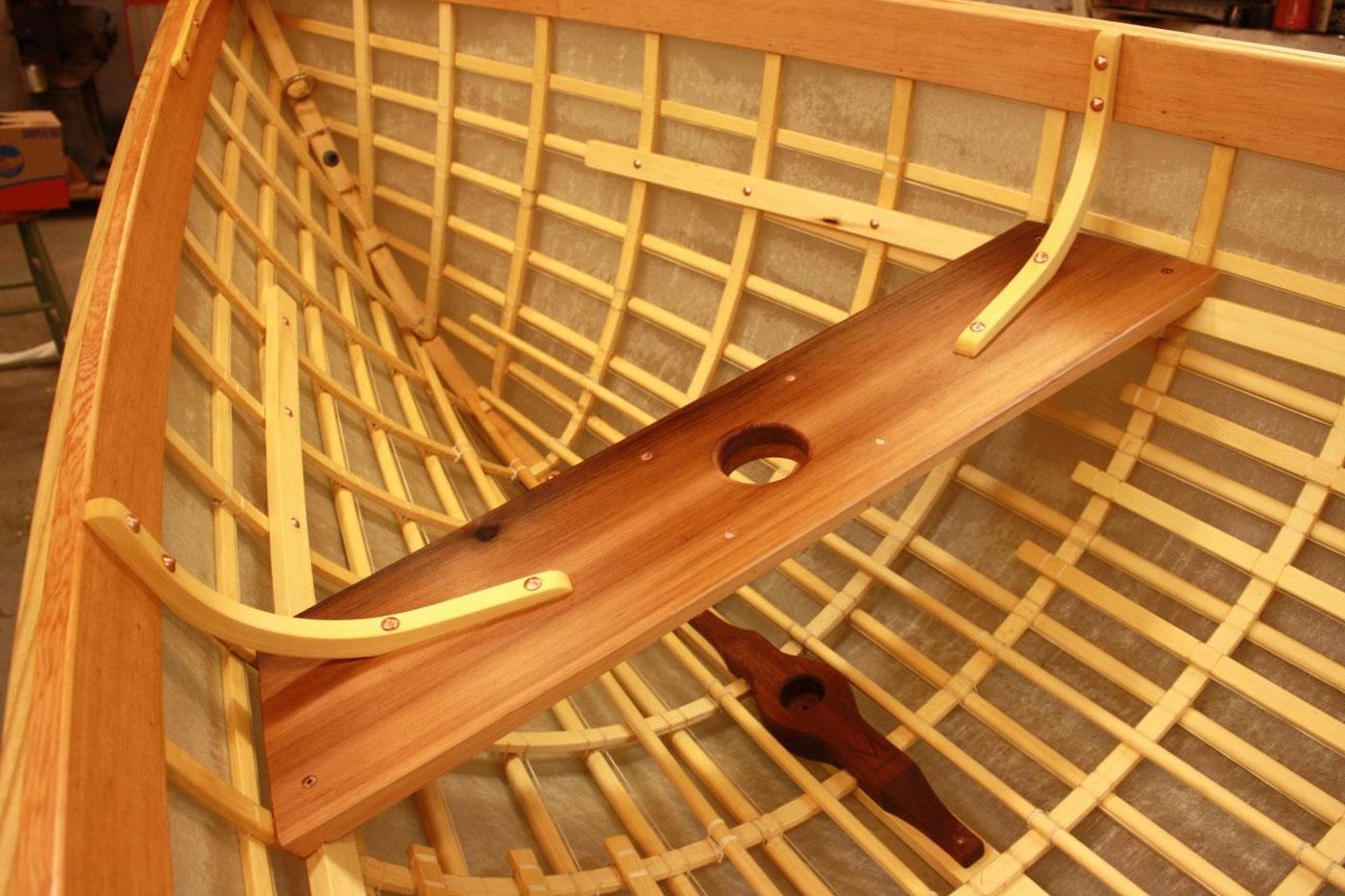 Skin-on-frame Pacific handliner detail