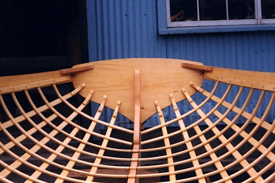 Skin-on-frame providence river boat