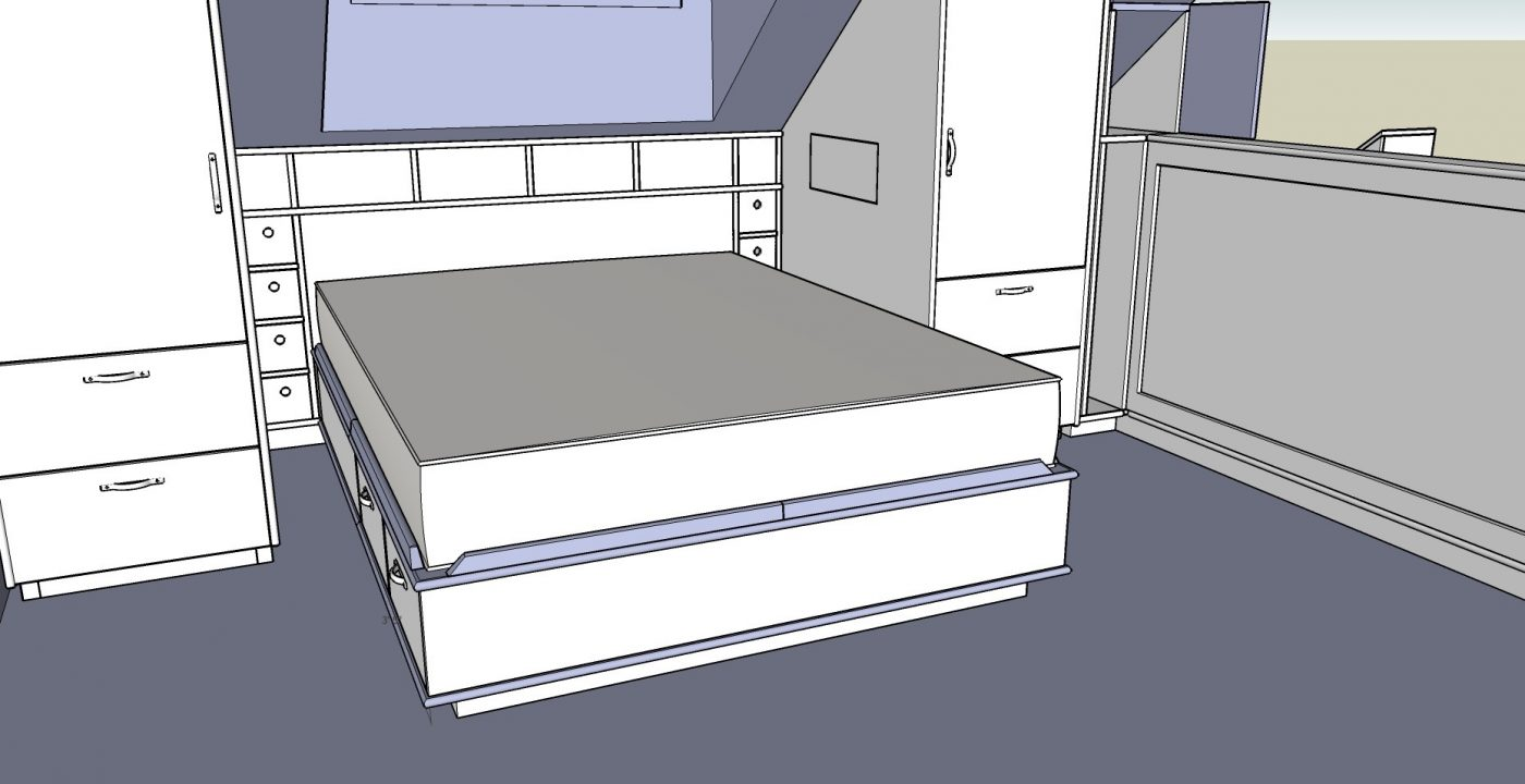 Bedroom built-in sketchup drawing