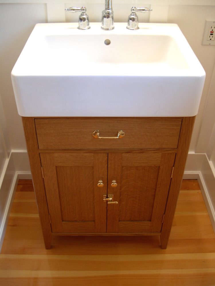 White oak washstand