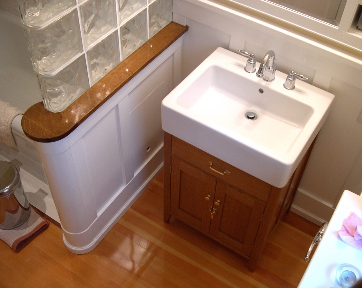 White oak washstand