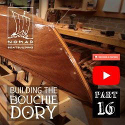 Building the Bouchie Dory Part 16 – Fibreglassing the garboards