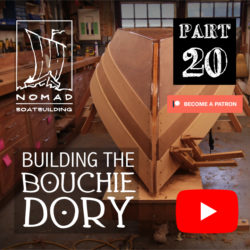 Building the Bouchie Dory Part 20 – Lapstrake planking part 3