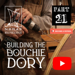 Building the Bouchie Dory Part 21 – Installing the cutwater