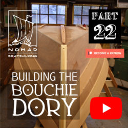 Building the Bouchie Dory Part 22 – Installing grounding shoes